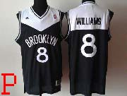Mens Nba Brooklyn Nets #8 Williams (brooklyn) Black (white V) Revolution 30 Jersey (p)