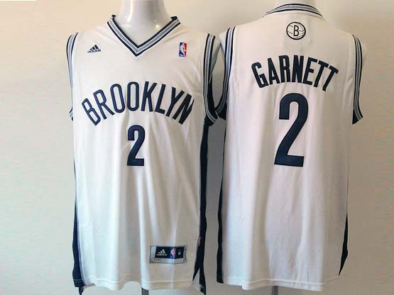 Mens Nba Brooklyn Nets #2 Garnett (brooklyn) White Revolution 30 Jersey (p)