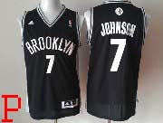 Mens Nba Brooklyn Nets #7 Johnson (brooklyn) Full Black Revolution 30 Jersey (p)