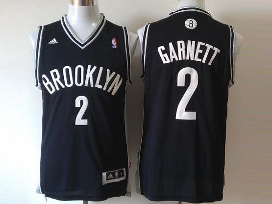 Mens Nba Brooklyn Nets #2 Garnett (brooklyn) Full Black Revolution 30 Jersey (p)