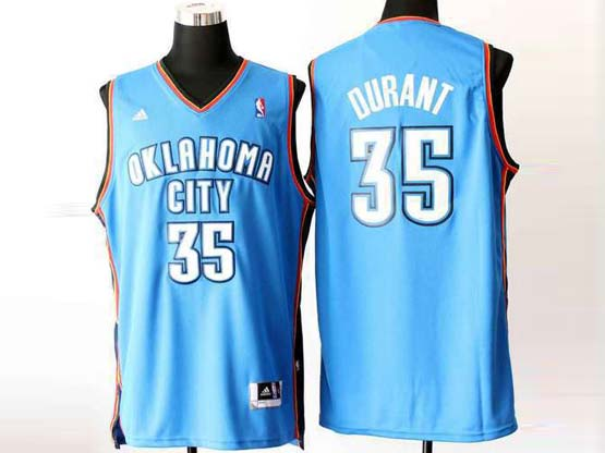 Mens Nba Oklahoma City Thunder #35 Kevin Durant Light Blue Revolution 30 Jersey (p)