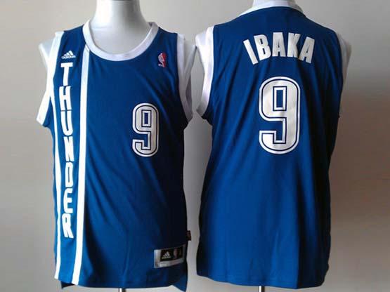 Mens Nba Oklahoma City Thunder #9 Ibaka Dark Blue Revolution 30 Jersey (p)