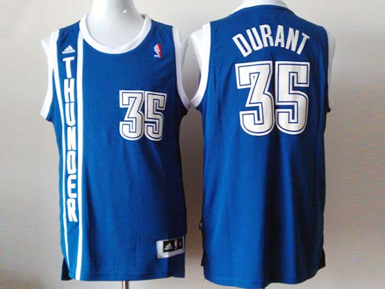 Mens Nba Oklahoma City Thunder #35 Durant Dark Blue Revolution 30 Jersey (p)