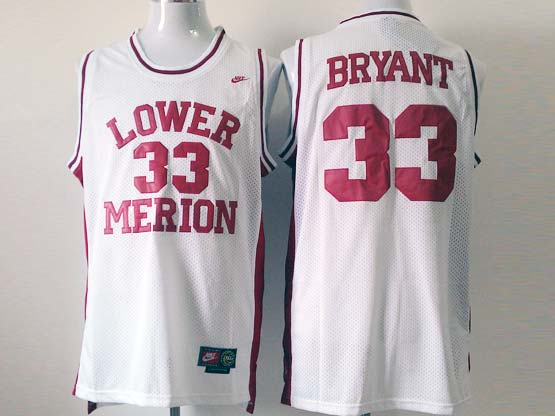 Mens ncaa nba lower merion #33 bryant white Jersey