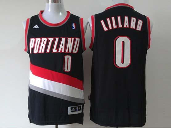 Mens Nba Portland Trail Blazers #0 Lillard Black Revolution 30 Jersesy (p)