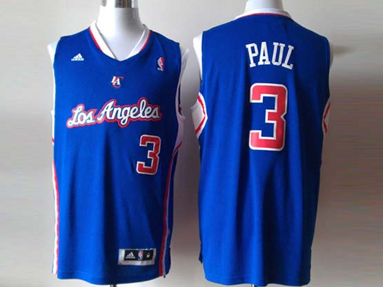 Mens Nba Los Angeles Clippers #3 Paul Blue Revolution 30 Jersey (p)