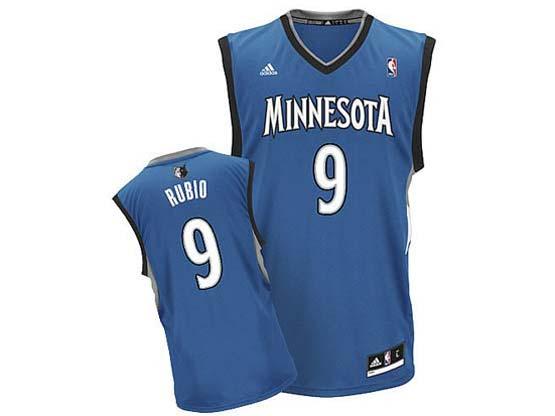 Mens Nba Minnesota Timberwolves #9 Rubio Blue Revolution 30 Jersey (p)