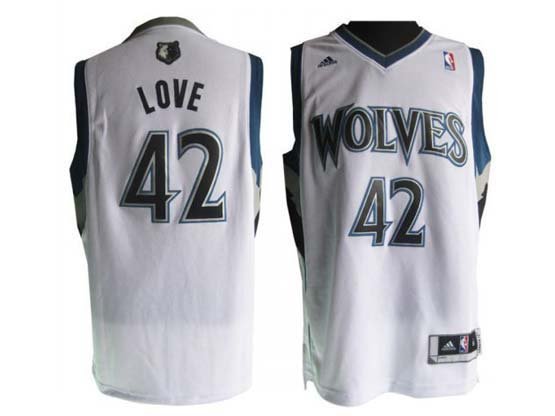 Mens Nba Minnesota Timberwolves #42 Love White Revolution 30 Jersey (p)
