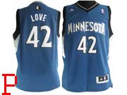 Mens Nba Minnesota Timberwolves #42 Love Blue Revolution 30 Jersey (p)