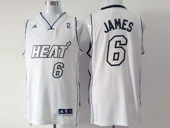 Mens Nba Miami Heat #6 James White (white Number) Revolution 30 Fashion Jersey (p)