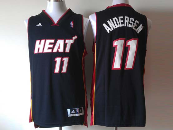Mens Nba Miami Heat #11 Andersen Black (heat White Number) Revolution 30 Jersey (p)