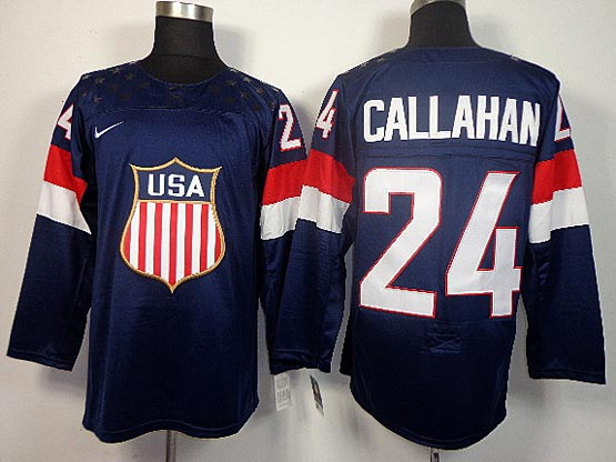 Mens nhl team usa #24 callahan blue (2014 olympics) Jersey