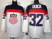 Mens nhl team usa #32 quick white (2014 olympics) Jersey