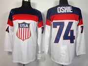 Mens nhl team usa #74 oshie white (2014 olympics) Jersey