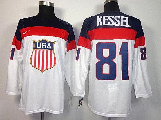 Mens nhl team usa #81 kessel white (2014 olympics) Jersey