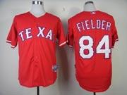 Mens mlb texas rangers #84 fielder red Jersey