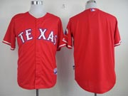 Mens mlb texas rangers (blank) red Jersey