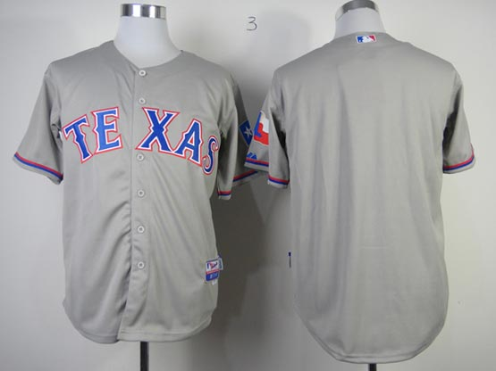 Mens mlb texas rangers (blank) gray Jersey