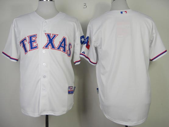 Mens mlb texas rangers (blank) white Jersey