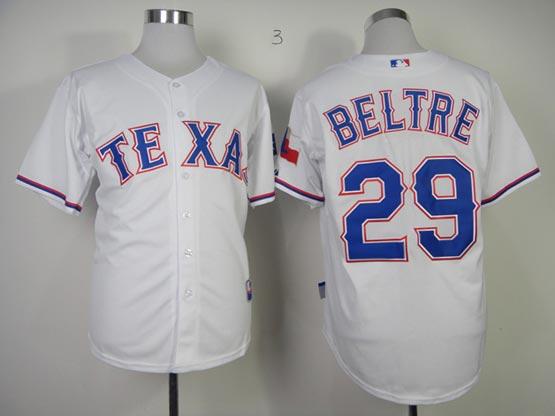 Mens mlb texas rangers #29 beltre white Jersey