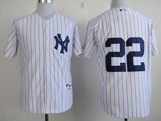 Mens MLB New York Yankees #22 Ellsbury WHITE JERSEY