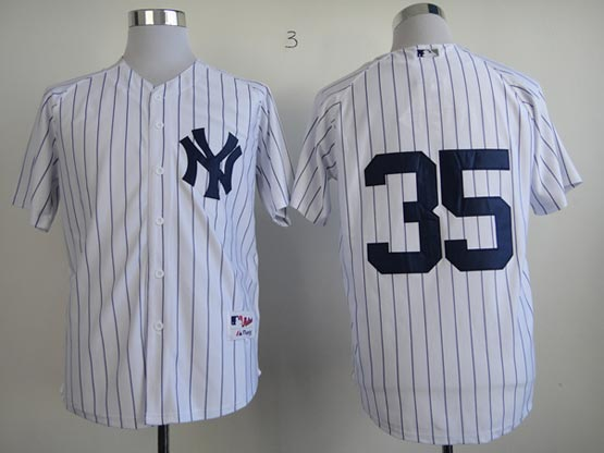 Mens mlb new york yankees #35 mussina white (no name) Jersey