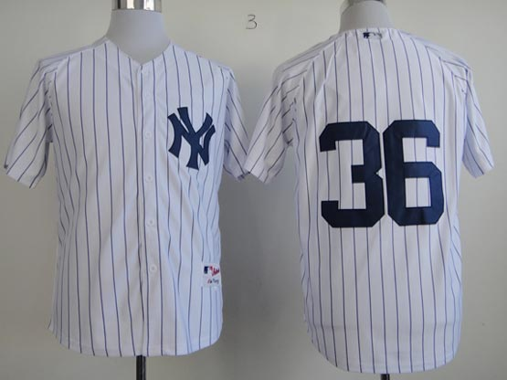 Mens mlb new york yankees #36 texiera white (no name) Jersey