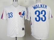 Mens mlb montreal expos #33 walker white Jersey
