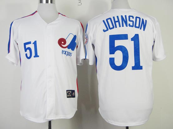 Mens mlb montreal expos #51 johnson white Jersey