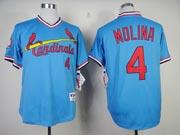 Mens mlb st.louis cardinals #4 molina blue Jersey