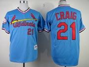 Mens mlb st.louis cardinals #21 craig blue Jersey