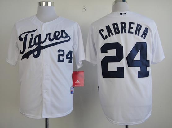 Mens mlb detroit tigers #24 cabrera white (tigers) Jersey