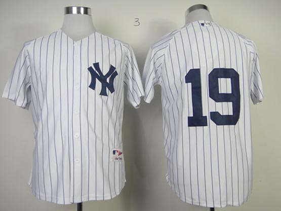 Mens Mlb New York Yankees #19 Tanaka White (no Name) Jersey