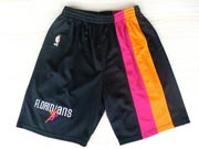 Nba Miami Heat Black&rainbow Shorts (mesh Style)