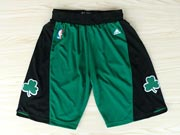 Nba Boston Celtics Green&black Shorts (new Mesh Style)