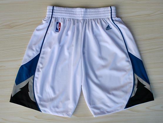 Nba Minnesota Timberwolves White Shorts (new Mesh Style)