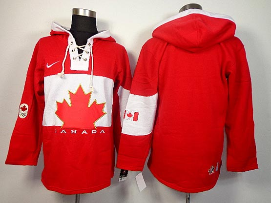 Mens nhl team canada (blank) red hoodie (2014 olympics) Jersey