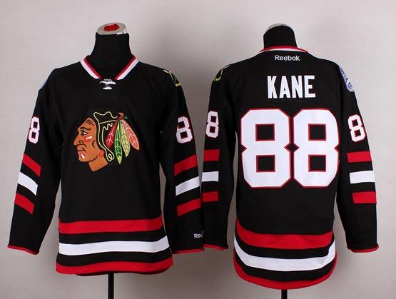 Mens reebok nhl chicago blackhawks #88 kane black (2014 stadium series) Jersey