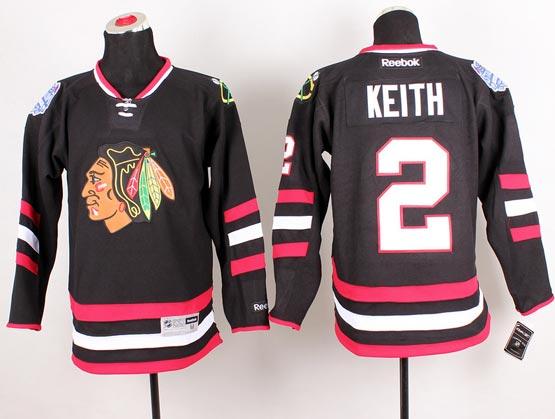 Mens reebok nhl chicago blackhawks #2 keith black (2014 stadium series) Jersey