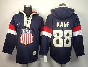 Mens nhl team usa 2014 olympics #88 kane blue hoodie Jersey