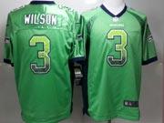 Mens Nfl Seattle Seahawks #3 Wilson Green (drift Fashion) Game Jersey