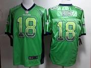 Mens Nfl Seattle Seahawks #18 Rice Green (drift Fashion) Game Jersey