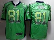 Mens Nfl Seattle Seahawks #81 Tate Green (drift Fashion) Game Jersey