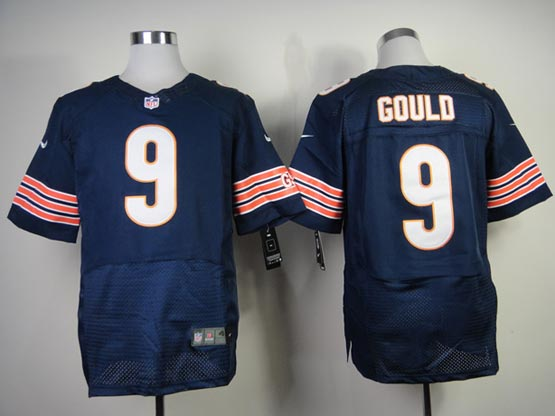 Mens Nfl Chicago Bears #9 Gould Blue Elite Jersey