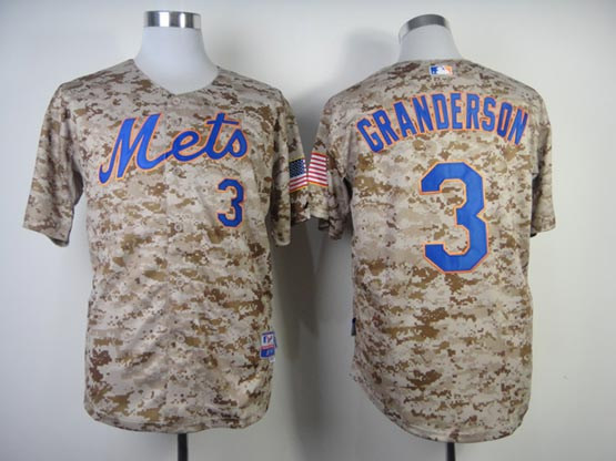 Mens mlb new york mets #3 granderson camo (cool base) Jersey