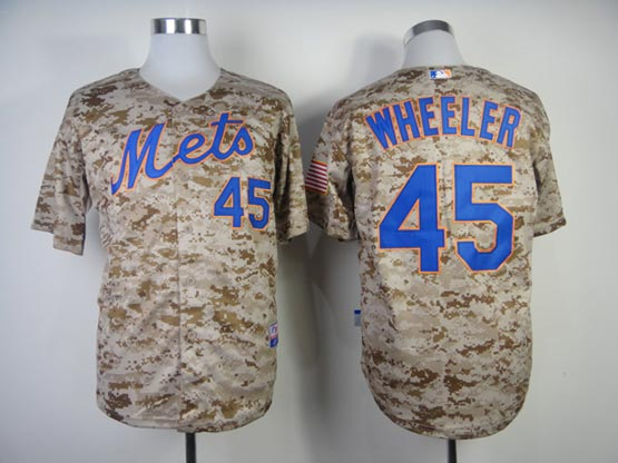 Mens mlb new york mets #45 wheeler camo (cool base) Jersey