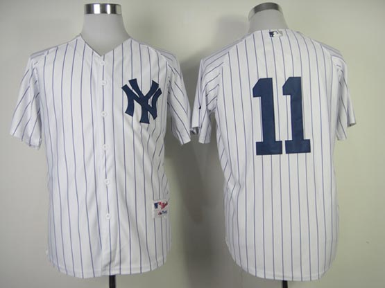 Mens Mlb New York Yankees #11 Gardner White (no Name) Jersey