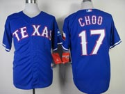 Mens mlb texas rangers #17 choo blue (2014 new) Jersey