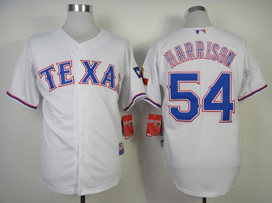 Mens mlb texas rangers #54 harrison white (2014 new) Jersey