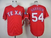 Mens mlb texas rangers #54 harrison red (2014 new) Jersey